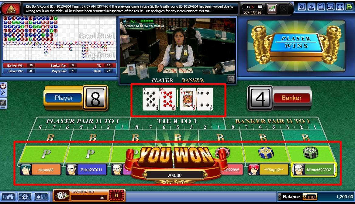 Cara Bermain Baccarat SBOBET Casino